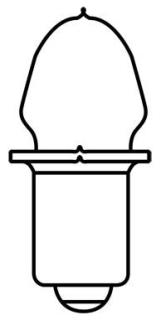 KPR102/BP2-12 GE MINIATURE LAMP- 2W 2V FLASHLIGHT, CODE 22961