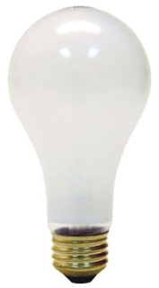 100A/RS/STGPQ1/6-120 GE INCANDESCENT LAMP- 100W A21 RS WORKLIGHT, CODE 7261