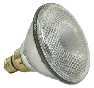 "120PAR/FL/27-240/0 GE INCANDESCENT LAMP- 120W 240V 5.5"", PAR38 E27 MEDIUM BASE, CODE 18173"
