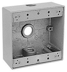 "2IH3-1 RED DOT OUTLET UNIVERSAL BOX - 2-GANG THREE 1/2"" HUB"
