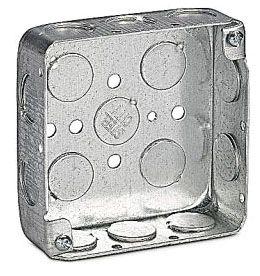 "52141-1/2 STEEL CITY SQUARE DEVICE BOX- 4"" 1-1/4""D 1/2""KO'S"