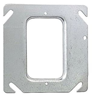 """52 C 36 STEEL CITY SQUARE 1-DEVICE COVER- 4"""" 1/4"""" RAISED - FOR DRYWALL"""
