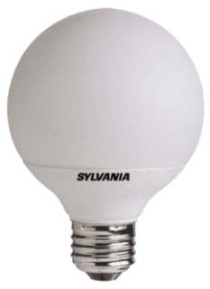 CF14EL/G25/827/BL SYLVANIA CFL LAMP- 14W 2700K DECORATIVE WITH G25 GLOBE COVER, INTEGRAL COMPACT FLUORESCENT LAMP, CODE 28977