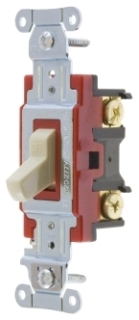 1221I HUBBELL 20A 125A 120-277V 1P BACK & SIDE WIRED TOGGLE SWITCH - IVORY