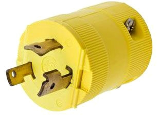 HBL2621VY HUBBELL TELEPHONE CONNECTING PLUG, LKG VAL 30A 250V, L6-30P, YL