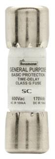 SC-10 BUSSMANN 10A 600V CLASS-G TIME-DELAY FUSE