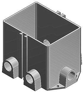 642 P STEEL CITY FLOOR BOX- PLASTIC
