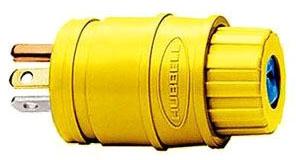 HBL14W33 HUBBELL 20A 125V NEMA-5-20P ELASTOGRIP PLUG YELLOW