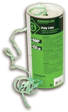 430-500 GREENLEE POLY LINE- 500FT. WITH GREEN TRACER