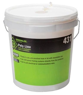431 GREENLEE POLY LINE- 5200' 2-PLY TWINE WITH YELLOW TRACER