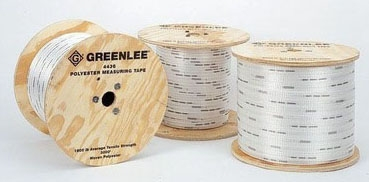 """4437 GREENLEE MEASURING/PULLING TAPE- 3/4""""x3000FT HIGH-STRENGTH POLYESTER 2500# TENSILE STRENGTH"""