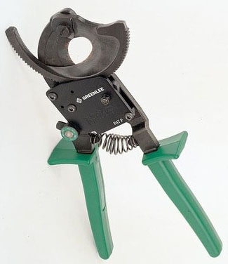 759 GREENLEE RATCHETING CABLE CUTTER- 500MCM COPPER 750MCM ALUMINUM