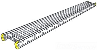 """WERNER 2508 ALUMINUM SCAFFOLD PLANK 20"""" X 8' 2-PERSON STAGE 500 LB. DUTY RATING"""