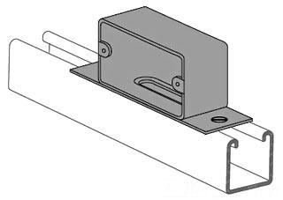 PS-2639-1-7/8-EG POWER-STRUT OUTLET BOX: U.L. LISTED LESS RECEPTACLE