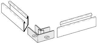 B767-11ZN B-LINE 90 DEG. ELBOW STRUT JOINER, FOR 3 1/4-IN. X 1 5/8-IN. CHANNEL, ZI 78101157450