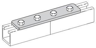 BFV341 B-LINE FOUR HOLE SPLICE PLATE, FIBERGLASS