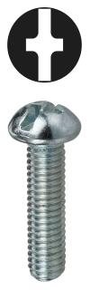 RMC6321 DOTTIE 6-32 X 1 ROUND HEAD SLOTTED/PHILLIPS MACHINE ZINC 78100255824