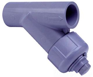 1 YS22S20-010CL PVC 80 SOC WYE STRAINER W/ 20 MESH SS SCREEN