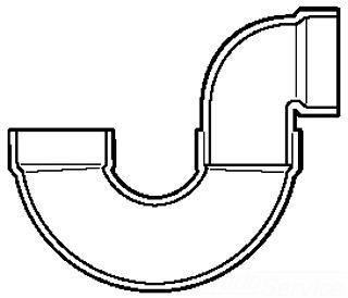 1-1/2 PVC DWV P TRAP L/ CLEAN OUT 78515 4885