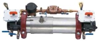 4 M-300BFG AMES DBL CHECK DETECTOR W/ BFV/ BYPASS/ METER