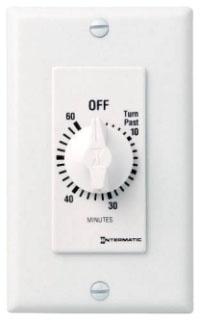 FD60MWC INT CLAMSHELL PGK 60MIN 125-277 V SPST WHITE