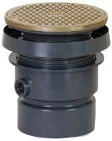 4 CLEANOUT PVC S/W W/ NIK ROUND 834-4PNR