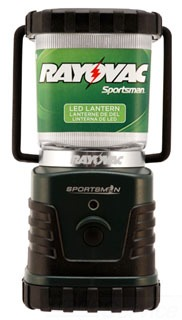 SPLN3D-TA RAYOVAC SPORTSMAN XTREME LED LANTERN 300 LUMEN 150 HR RUN TIME ON 3 D CELLS 4WATT HI/LO/STROBE CASE/4