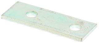 B528ZN B-LINE TWO HOLE SPLICE PLATE, ZINC PLATED 78101155833