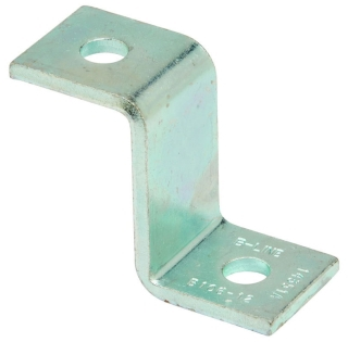 B106-12ZN B-LINE TWO HOLE Z-SUPPORT FOR B12 CHANNEL, ZINC PLATED 78101150073