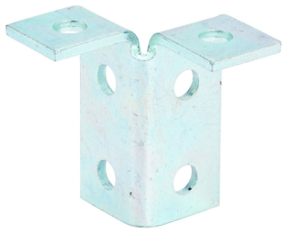 B120ZN B-LINE SIX HOLE DOUBLE CORNER CONNECTION, ZINC PLATED 78101150263