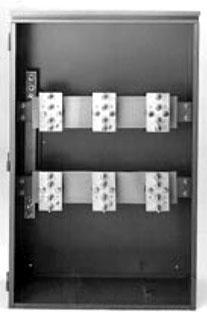 B-Line Series 803 HEE 800 Amp 600 Volt Gray NEMA 3R Overhead Bussed Current Transformer Metering Enclosure