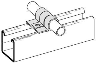 B-Line Series B2311ZN 1/2 Inch 1-Hole Tubing Strap