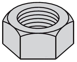 B-Line Series NUT,HEX5/8ZN Zinc Plated Hex Nut