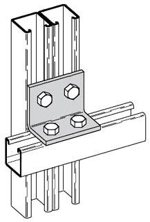 B-Line Series B558ZN 4-Hole Zinc Plated Corner Angle