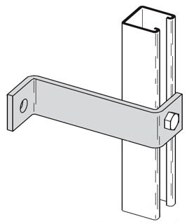 B-Line Series B407-8ZN 8 Inch 2-Hole Zinc Plated Z-Support