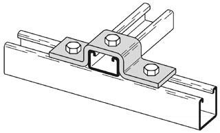 B-Line Series B116-42ZN 3-Hole Zinc Plated U-Support