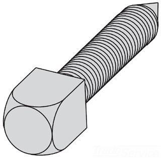 B-LINE 1/2X11/2CNPSSZN SQUARE HEAD