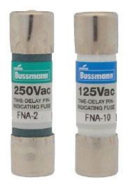Bussmann Series FNA-2-8/10 2-8/10 Amp 250 VAC Pin Indicating Dual Element Time Delay Fuse