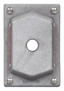 Crouse-Hinds Series DS441 1-Gang 1-Hole Iron Pilot Light Device Box Cover