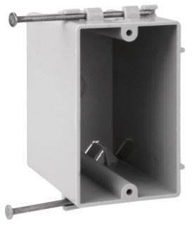 Crouse-Hinds Series TP2300 2-1/4 x 3-7/16 x 3-3/4 Inch PVC Angled Nail-On Switch Box