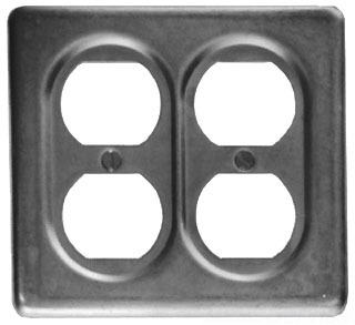 Crouse-Hinds Series S232 SA 2-Gang Copper Free Aluminum 3-Pole 2-Wire Round Surface Mount Device Box Cover