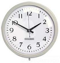 Edwards Signaling 1882A 120 VAC 12 Inch Gray Battery Operated Analog Clock