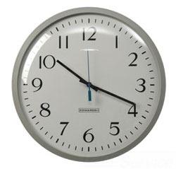 Edwards Signaling 1887B 12 Inch 1.5 VDC Brown Polystyrene Case Battery Operated Analog Clock