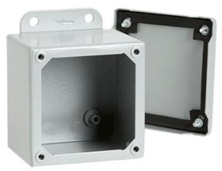 Hoffman A604SC 6 x 4 x 3 Inch 16 Gauge Steel NEMA 12 Junction Box Screw Cover