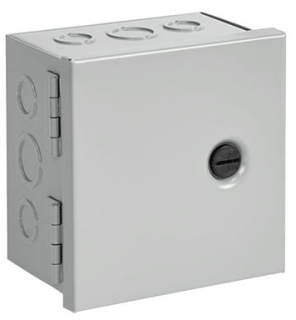 Hoffman AHE8X6X4 Painted Steel NEMA 1 Hinged Cover Pull Box with Knockout