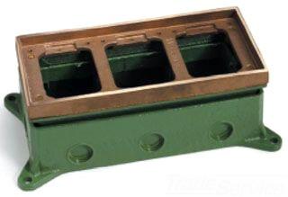 LEW 1103-58-A FULLY ADJ FLOOR BOX,