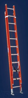 Louisville Ladder FE7216 12 Foot 300 lb Duty Rating Fiberglass Extension Ladder