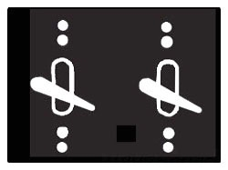 Mulberry 30496 2-Gang Powder Coated Die-Cast 2-Toggle Switch Heavy Duty Weatherproof Switch Cover