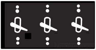 Mulberry 30499 3-Gang Powder Coated Die-Cast 3-Toggle Switch Heavy Duty Weatherproof Switch Cover