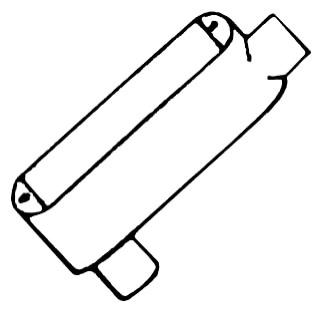 Mulberry 11801 0.5 Inch Hub Electrostatic Powder Coated Die-Cast Aluminum Type LB Threaded Conduit Body